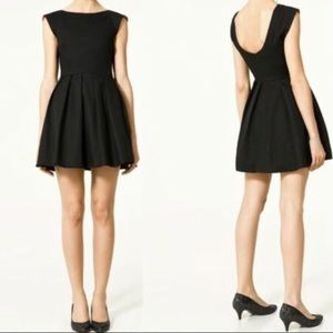 Zara TRF M Little Black Dress Pink Inside